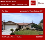 952 Meadow View Hanford CA, 93230
